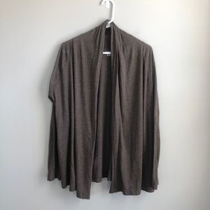Land's End Brown Open Front Cardigan LP